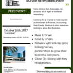 Harvest Networking Event at Karla Dennis & Associates – 10.26.17