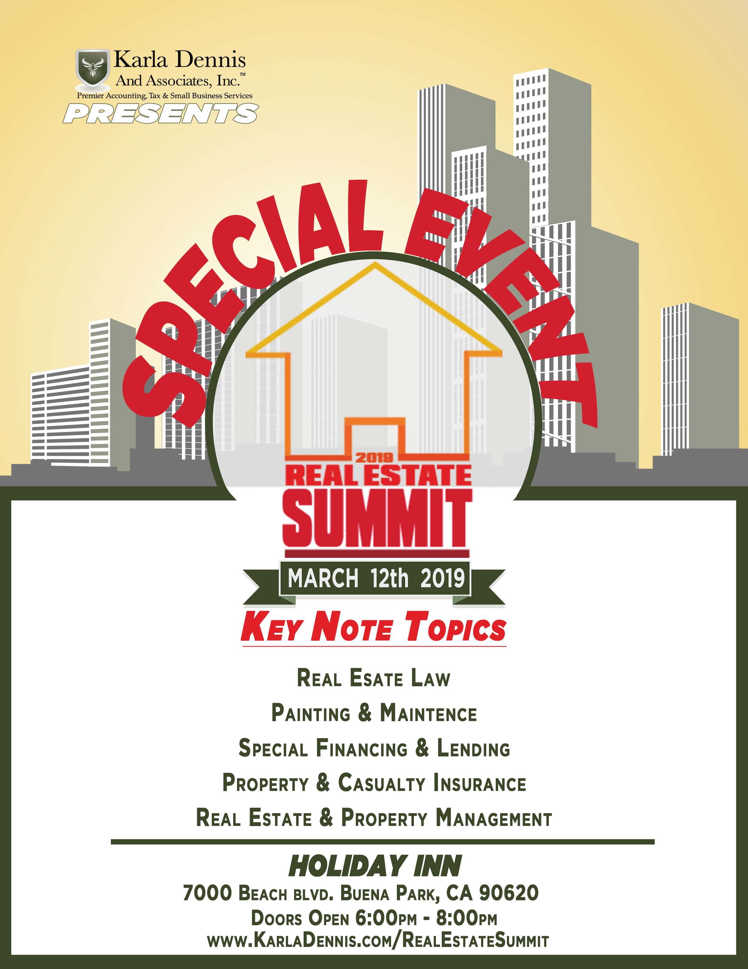 Special Event! 2019 Real Estate Investor's Summit hosted by Karla